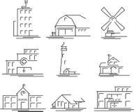 Graphismes de constructions réglés illustration libre de droits