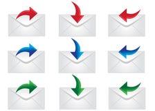 Graphismes de courrier Photo libre de droits