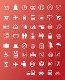 Icônes de voyage Photo stock