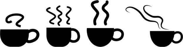 Graphismes de cuvette de café Image libre de droits