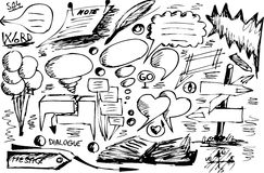 Graphismes de dialogue illustration libre de droits