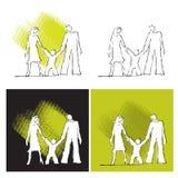 Graphismes de famille, positionnement Illustration de Vecteur