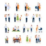 Graphismes de famille réglés Image libre de droits