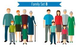 Graphismes de famille réglés Culture traditionnelle, famille nationale Vecteur Photos libres de droits