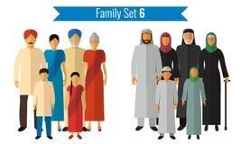 Graphismes de famille réglés Culture traditionnelle, famille nationale Vecteur Image libre de droits