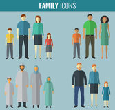 Graphismes de famille réglés Culture traditionnelle Vecteur Photos libres de droits
