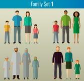 Graphismes de famille réglés Vecteur Images libres de droits