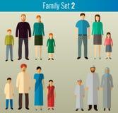 Graphismes de famille réglés Vecteur Image stock