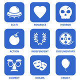 Graphismes de film Images libres de droits