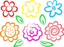 graphismes de fleur Photographie stock libre de droits