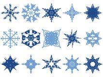 Graphismes de flocon de neige Image libre de droits