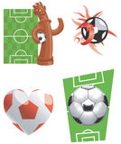 graphismes de Football-Illustration-vecteur Photographie stock libre de droits
