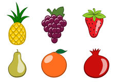 Graphismes de fruit Photos libres de droits