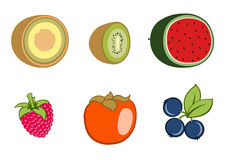 Graphismes de fruit Photos stock