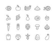 Graphismes de fruits et légumes illustration libre de droits