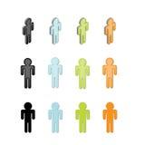 Graphismes de gens illustration libre de droits