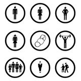 Graphismes de gens Image libre de droits