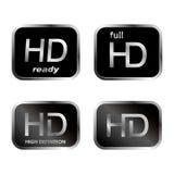 Graphismes de HD - boutons Photographie stock libre de droits