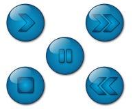 Graphismes de joueur d'Aqua Images libres de droits