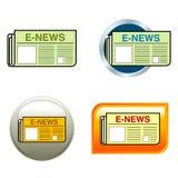 Graphismes de journal Images libres de droits