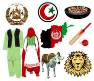 Graphismes de l'Afghanistan Images stock