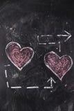 Graphismes de l'amour Photo stock