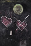 Graphismes de l'amour Photographie stock