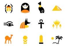 Graphismes de l'Egypte et éléments de conception d'isolement sur le blanc. illustration stock