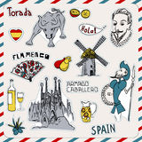 Graphismes de l'Espagne Image libre de droits