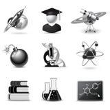 Graphismes de la Science   Série de B&W illustration de vecteur
