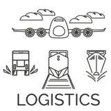 Graphismes de logistique Images libres de droits