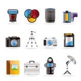 Graphismes de matériel de photographie Image stock