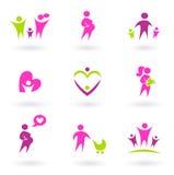 Graphismes de maternité, de grossesse et de santé - rose illustration libre de droits