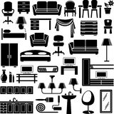 graphismes de meubles réglés Photographie stock libre de droits