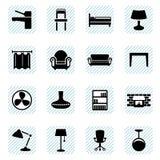 Graphismes de meubles réglés illustration stock