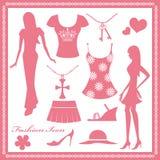 Graphismes de mode de femmes réglés Images stock