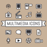 Graphismes de multimédia Images libres de droits