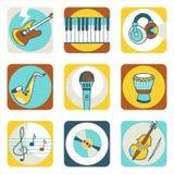 Graphismes de musique Photos stock