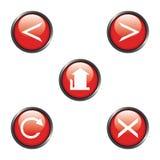 Graphismes de navigation d'Internet Photos libres de droits