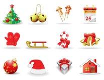 Graphismes de Noël et d'an neuf Image libre de droits