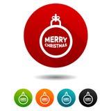 Graphismes de Noël Signes de boule de Noël Symbole de décoration Boutons de Web de cercle de vecteur Photos stock