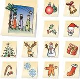 Graphismes de Noël Photo stock