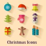 Graphismes de Noël Images stock