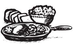 Graphismes de nourriture de la Grèce Photographie stock