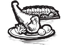 Graphismes de nourriture de la Grèce Images libres de droits