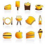 Graphismes de nourriture et de boissons d'été Images stock