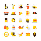 Graphismes de nourriture réglés Photo libre de droits