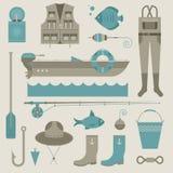 Graphismes de pêche Images stock