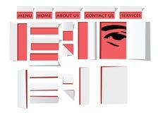 Graphismes de papier Illustration Stock