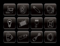 Graphismes de pièces et de services de véhicule Photo libre de droits